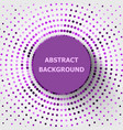 Abstract background with purple circles halftone