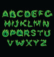 acid flame alphabet vector image vector image