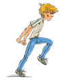 Angry teen boy vector image vector image