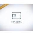 bank finanse logo money banking or broker vector image