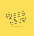 banking with thin line checking credit card vector image vector image