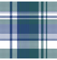 blue green color pixel plaid seamless pattern vector image vector image