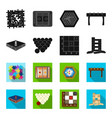 board game blackflet icons in set collection for vector image vector image