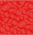 bouquet of roses random seamless pattern vector image