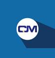 c m initial letter logo design creative modern