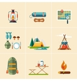 Camping and Hiking Icons Flat Design vector image vector image