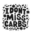 carbs dangerous healthy lifestyle nutrition proble vector image vector image
