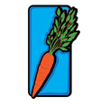 carrot clip art vector image vector image