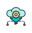 cloud filter big data service database flat vector image