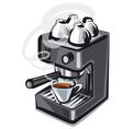 coffee machine2 vector image