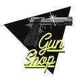 Color vintage guns shop emblem vector image vector image
