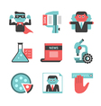 Content management flat icons set Part 2 vector image vector image