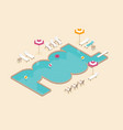 creative concept design on isometric swimming vector image vector image