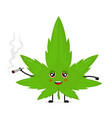 cute funny smiling happy marijuana weed vector image