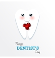 Cute greeting card Happy Dentist Day vector image vector image