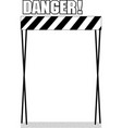 danger area sign on a white background vector image vector image