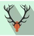 Deer head flat icon vector image vector image