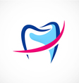 dentist tooth medic abstract logo vector image