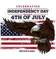 eagle for usa independence day 4 th vector image vector image