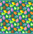 easter eggs painted with spring decoration vector image vector image