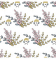 easter seamless pattern with bunch of flowers and vector image