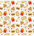 Fast food set for luncheonette menu design