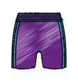 female sport shorts icon vector image