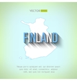 finland map in flat design Finnish border vector image vector image