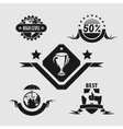 Five different emblems vector image vector image