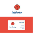 flat basket ball logo and visiting card template vector image vector image