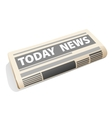 Folded newspaper icon presenting the news vector image vector image