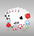 Gambling and casino symbols - poker chips vector image vector image