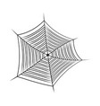 halloween spider web cobweb symbol icon isolated vector image