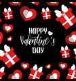 happy valentines day handwritten lettering card vector image