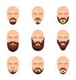 hipster mustache and beards icons set vector image vector image