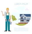 Home building banner2 vector image vector image