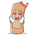 in love band aid character cartoon vector image vector image