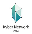 kyber network cryptocurrency symbol vector image vector image