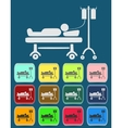 Life icons hospitalized vector image vector image