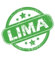 Lima green stamp vector image vector image
