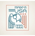 made in the usa symbol with american flag vector image