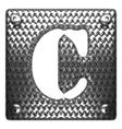 metal figure c vector image