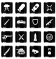 Military simply icons vector image vector image