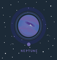 NEPTUNE space view vector image vector image