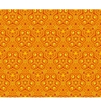 Orange abstract curls seamless pattern vector image vector image
