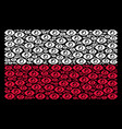 poland flag mosaic of eye icons vector image vector image