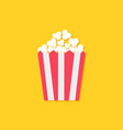 popcorn icon cinema sign symbol in flat design vector image vector image