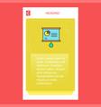 presentation chart mobile vertical banner design vector image vector image