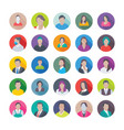 professional flat icons of professions1 vector image