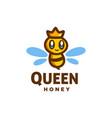 queen bee mascot cartoon logo icon design